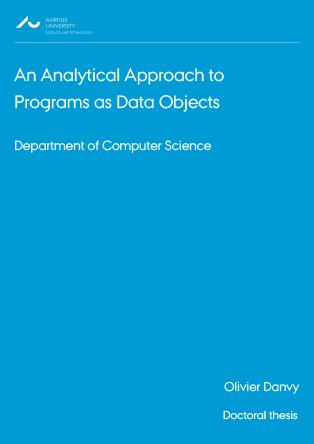 Forsidebillede til An Analytical Approach to Programs as Data Objects