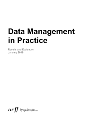 Forsidebillede til Data Management in Practice Results and Evaluation January 2018