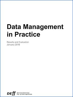 Forsidebillede til Data Management in Practice Results and Evaluation January 2018