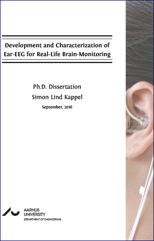 Forsidebillede til Development and Characterization of Ear-EEG for Real-Life Brain-Monitoring