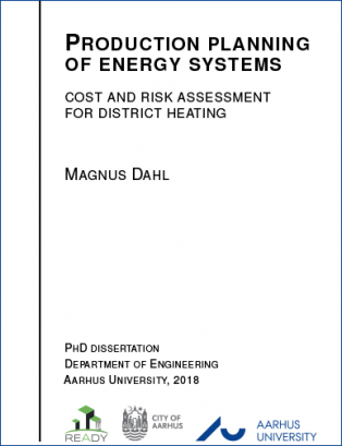 Cover for Production planning of energy systems: Cost and risk assessment for district heating