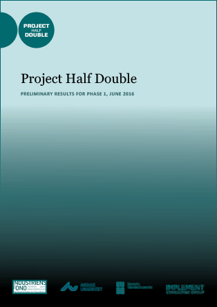 Forsidebillede til Project Half Double: Preliminary Results for Phase 1, June 2016