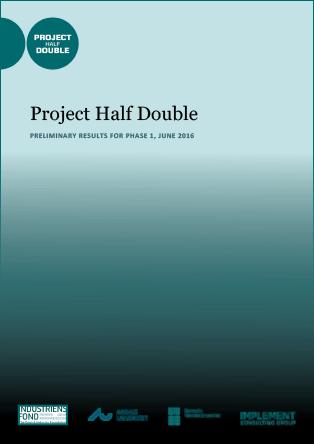 Forsidebillede til Project Half Double: Preliminary Results for Phase 1, June 2016
