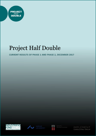 Forsidebillede til Project Half Double Current Results of Phase 1 and Phase 2, December 2017