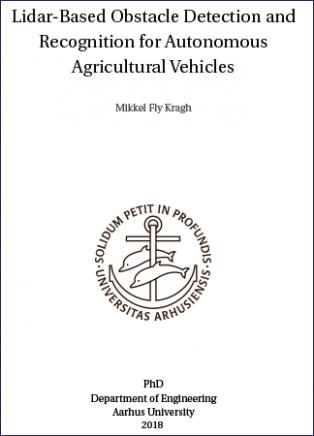 Forsidebillede til Lidar-based Obstacle Detection and Recognition for Autonomous Agricultural Vehicles