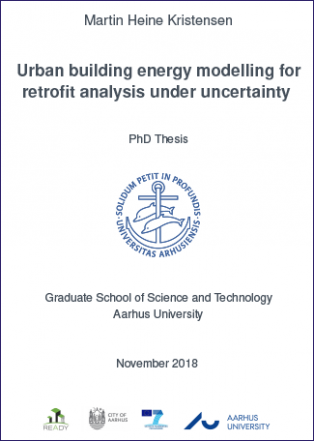 Cover for Urban building energy modelling for retrofit analysis under uncertainty