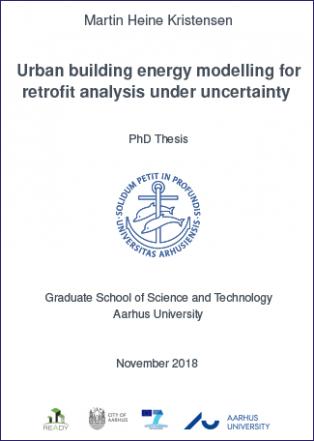 Forsidebillede til Urban building energy modelling for retrofit analysis under uncertainty