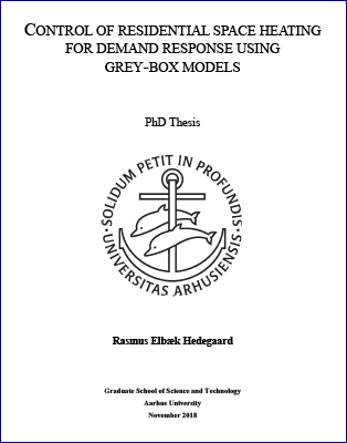 Cover for Control of Residential Space Heating for Demand Response Using Grey-box Models