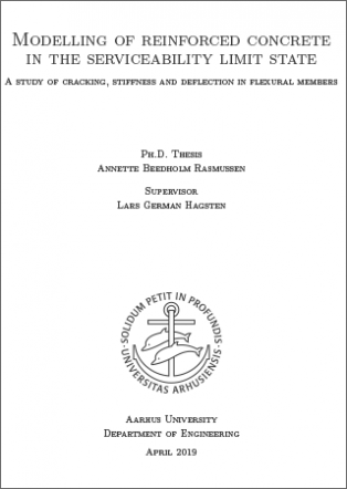 Forsidebillede til Modelling of reinforced concrete in the serviceability limit state: A study of cracking, stiffness and deflection in flexural members