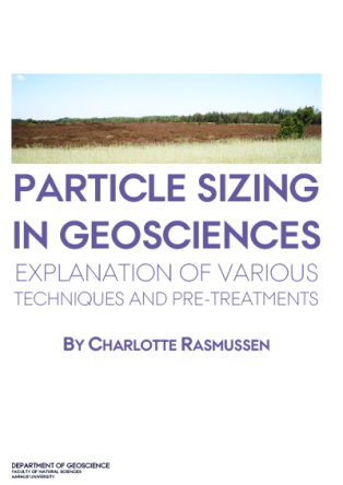 Forsidebillede til Particle Sizing in Geosciences: Explanation of Various Techniques and Pre-treatments