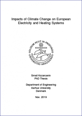 Forsidebillede til Impacts of Climate Change on European Electricity and Heating Systems