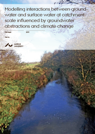 Forsidebillede til Modelling interactions between groundwater and surface water at catchment-scale influenced by groundwater abstractions and climate change