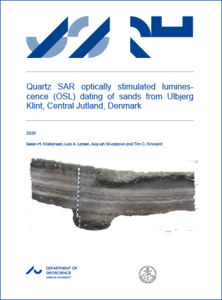 Forsidebillede til Quartz SAR optically stimulated lumines-cence (OSL) dating of sands from Ulbjerg Klint, Central Jutland, Denmark