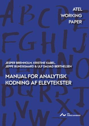 Forsidebillede til Manual for analytisk kodning af elevtekster